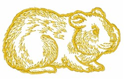 Wombat Outline embroidery design