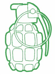 Grenade Outline embroidery design