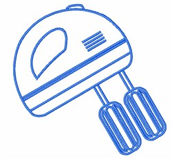 Hand Mixer Outline embroidery design