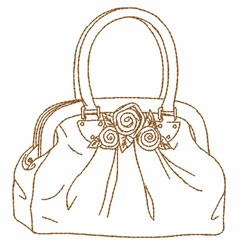 Handbag Outline embroidery design