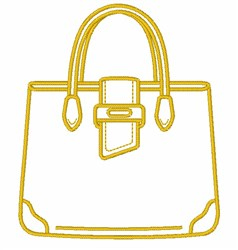 Purse Outline embroidery design