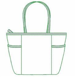 Tote Bag Outline embroidery design