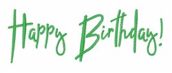 Happy Birthday Wishes embroidery design