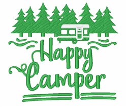 Silhouette Happy Camper embroidery design