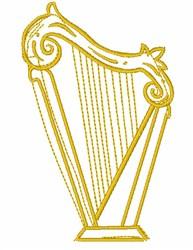 Golden Harp Outline embroidery design