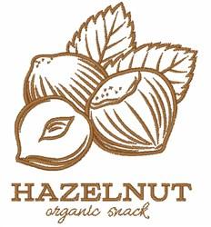 Hazelnut Outline embroidery design