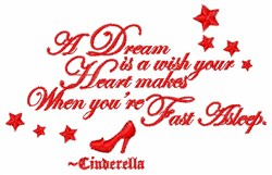 A Wish Your Heart Makes embroidery design