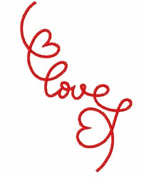 Decorative & Swirling Heart embroidery design