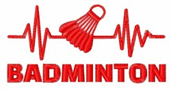 Badminton Heartbeat embroidery design