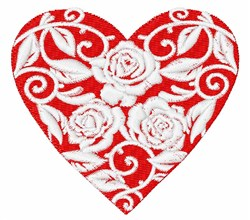 Heart Of Roses embroidery design