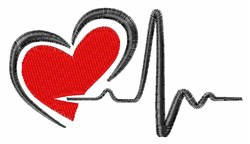 Heartbeat embroidery design