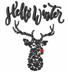 Hello Winter embroidery design