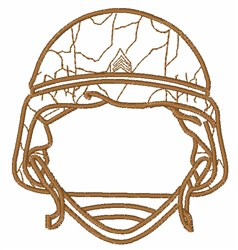 Military Soldier Outline embroidery design