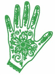 Henna Decorated Hand embroidery design