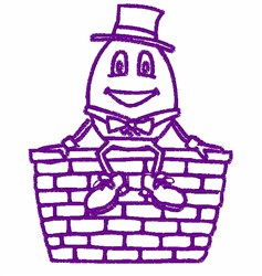 Humpty Dumpty Outline embroidery design