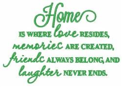 Home Where Love Resides embroidery design