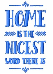Home Is The Nicest embroidery design