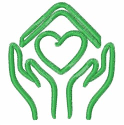 Love Home Outline embroidery design