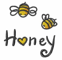Bumblebees & Honey embroidery design