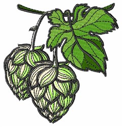 Realistic Hops embroidery design