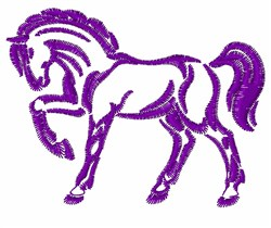 Prancing Horse Outline embroidery design