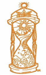 Decorative Hourglass Outline embroidery design