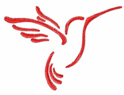 Simple Hummingbird Outline embroidery design