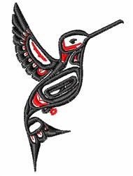 Tribal Hummingbird embroidery design