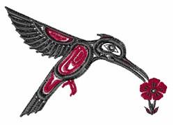 Tribal Hummingbird Feeding embroidery design