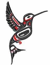 Flying Tribal Hummingbird embroidery design