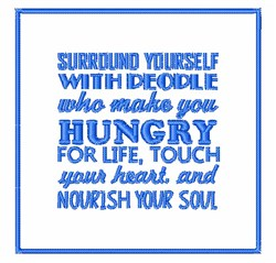 Nourish Your Soul embroidery design