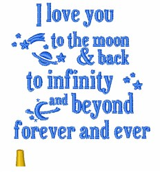 To The Moon & Back embroidery design