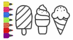 Sweet Treats Outlines embroidery design