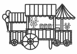 Carnival Stands Outline embroidery design