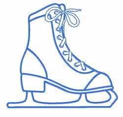 Ice Skate Outline embroidery design