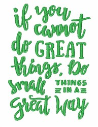 Do Great Things embroidery design