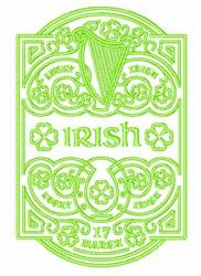 Irish Sampler embroidery design