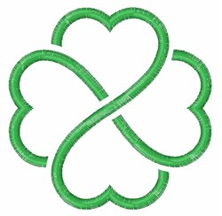 Celtic Knot Shamrock embroidery design