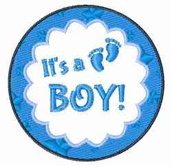 Its A Boy Circle embroidery design