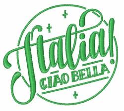 Italia Ciao Bella embroidery design