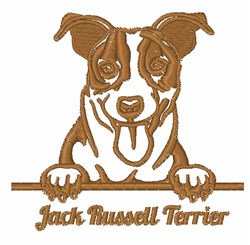 Jack Russell Terrier Outline embroidery design