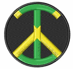 Jamaican Flag Peace Sign embroidery design
