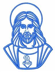 Jesus Outline embroidery design