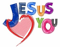 Jesus Loves You embroidery design