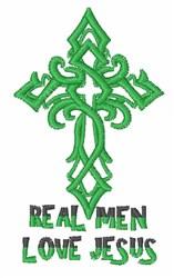 Real Men Love Jesus embroidery design