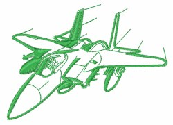 F-15 Outline embroidery design