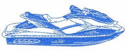 Jet Ski Outline embroidery design