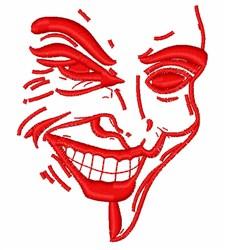 Nicholsons Joker Outline embroidery design