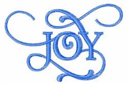 Decorative Joy embroidery design
