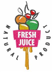 Fresh Juice Natural Product embroidery design